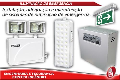 Iluminação de emergência contra incêndio