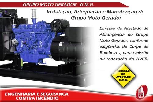 Instalação de grupo moto gerador