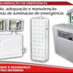 Instalação de iluminação de emergencia