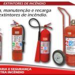 Recarga de extintores de incendio preço